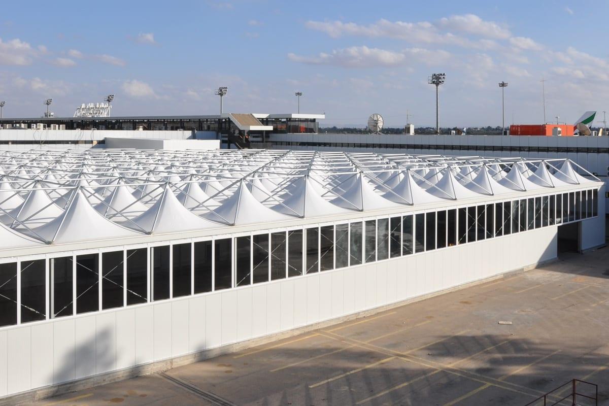 Połączone hale namiotowe typu Pagoda