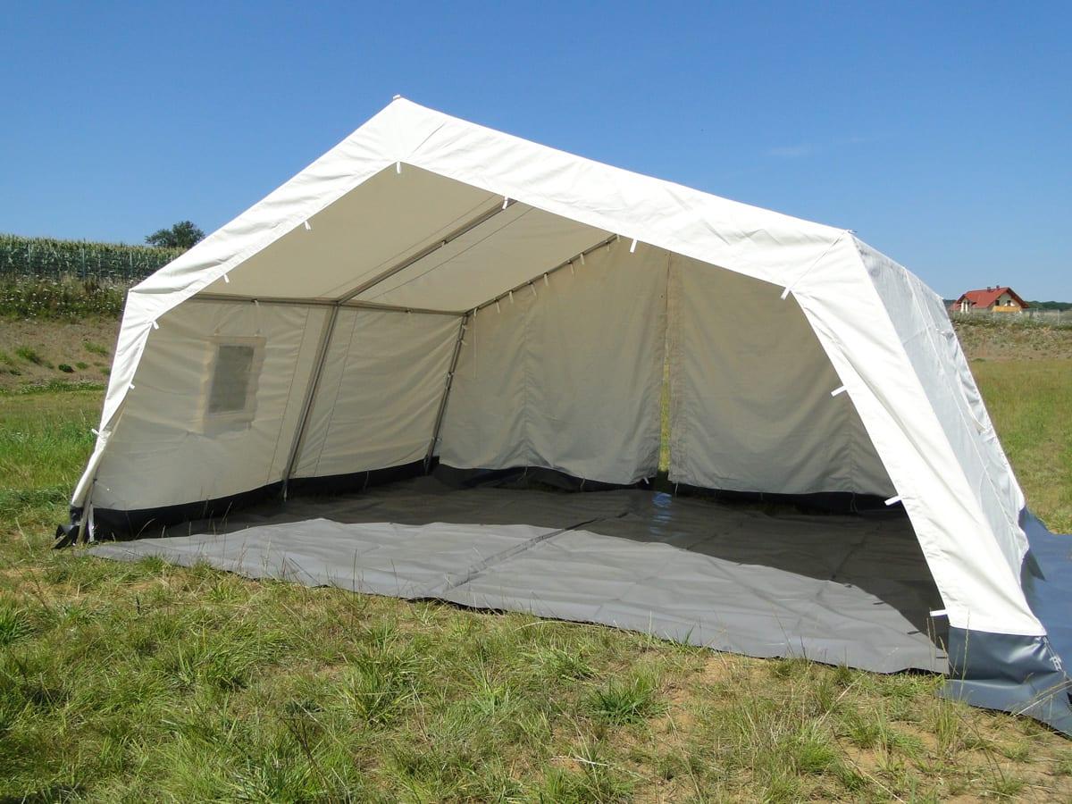 Mały otwarty namiot