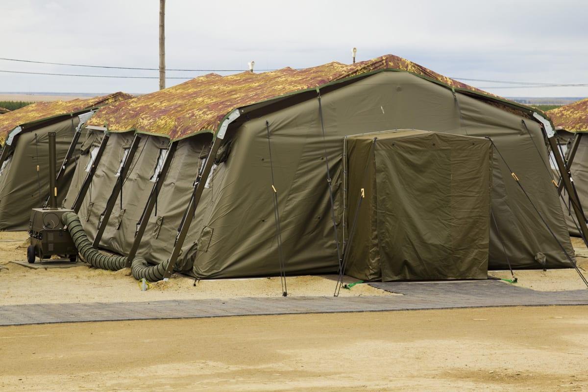 Mały namiot wojskowy