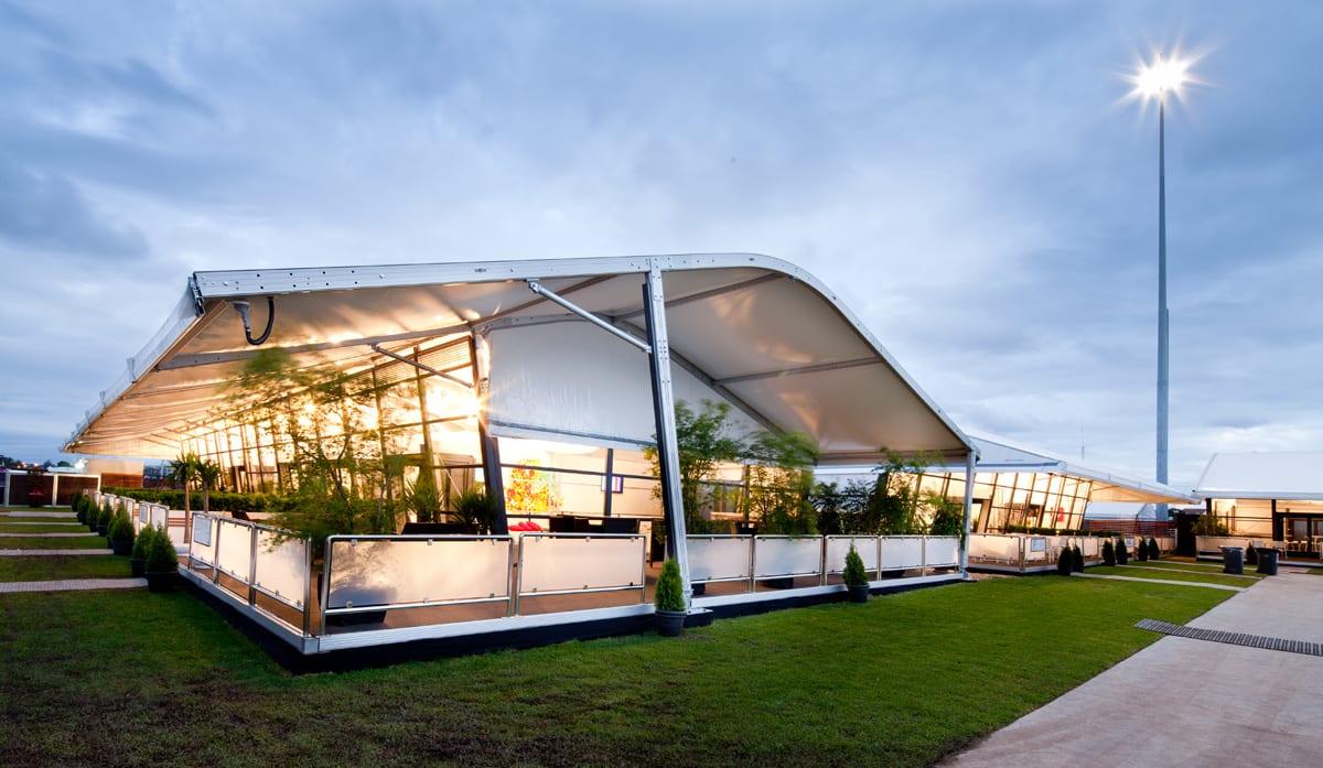 Nowoczesny system hal namiotowych i konstrukcji tymczasowych